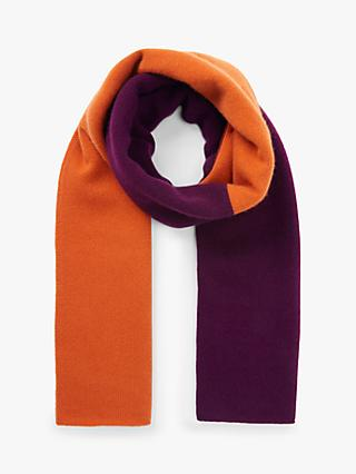John Lewis & Partners Cashmere Four Colour Block Scarf