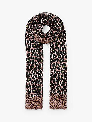 Collection WEEKEND by John Lewis Painterly Leopard Print Scarf, Pin/Mix