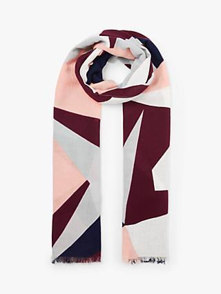 Collection WEEKEND by John Lewis Abstract Star Cotton Scarf, Pink Mix