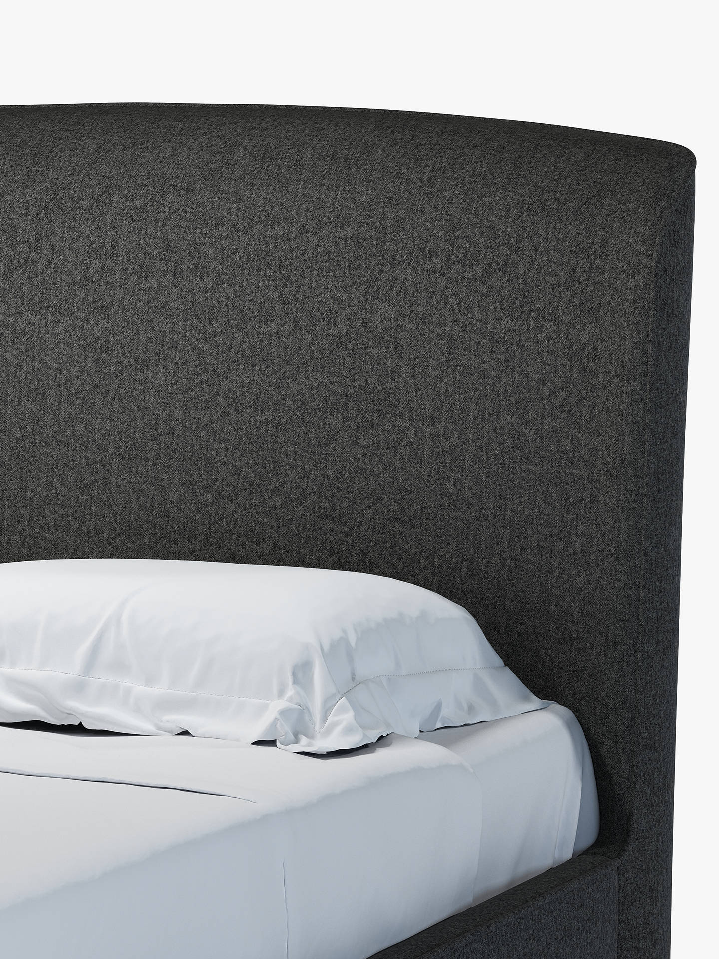 Buy Croft Collection Skye Ottoman Storage Upholstered Bed Frame, Double, Saga Charcoal Online at johnlewis.com