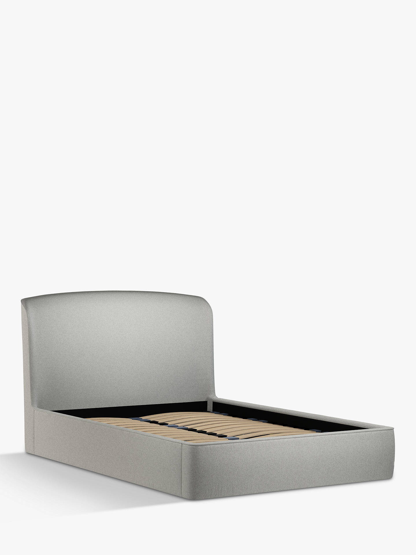 Buy Croft Collection Skye Ottoman Storage Upholstered Bed Frame, Double, Mole Grey Online at johnlewis.com