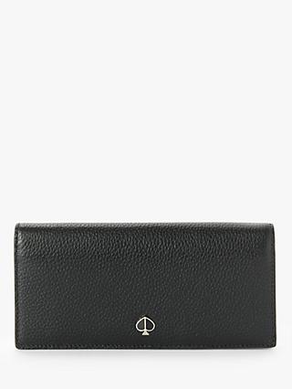 kate spade new york Polly Leather Bi-fold Continental Wallet, Black