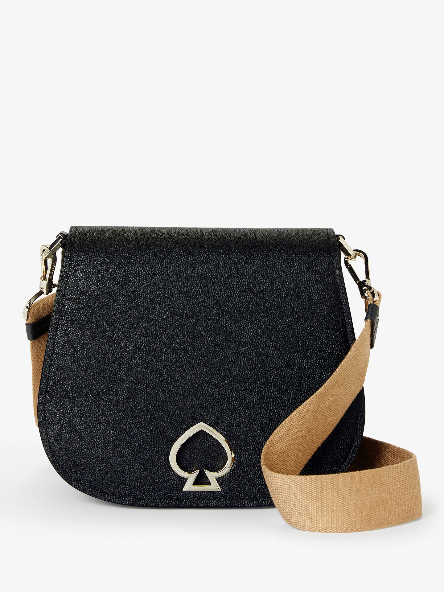 92588cf0fae50 Buy kate spade new york Suzy Large Saddle Leather Cross Body Bag, Black  Online at ...