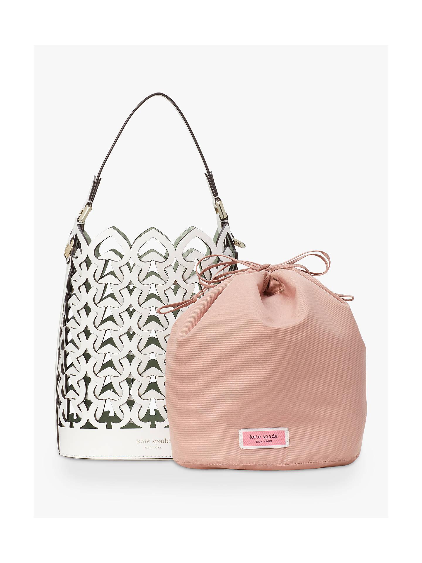 5e3d9d99b2e kate spade new york Dorie Leather Small Bucket Bag, White