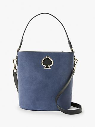 kate spade new york Suzy Suede Leather Bucket Bag, Blue