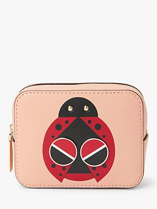 315a1ca571fc kate spade new york Lady Bug Leather Mini Cosmetic Case, Flapper Pink