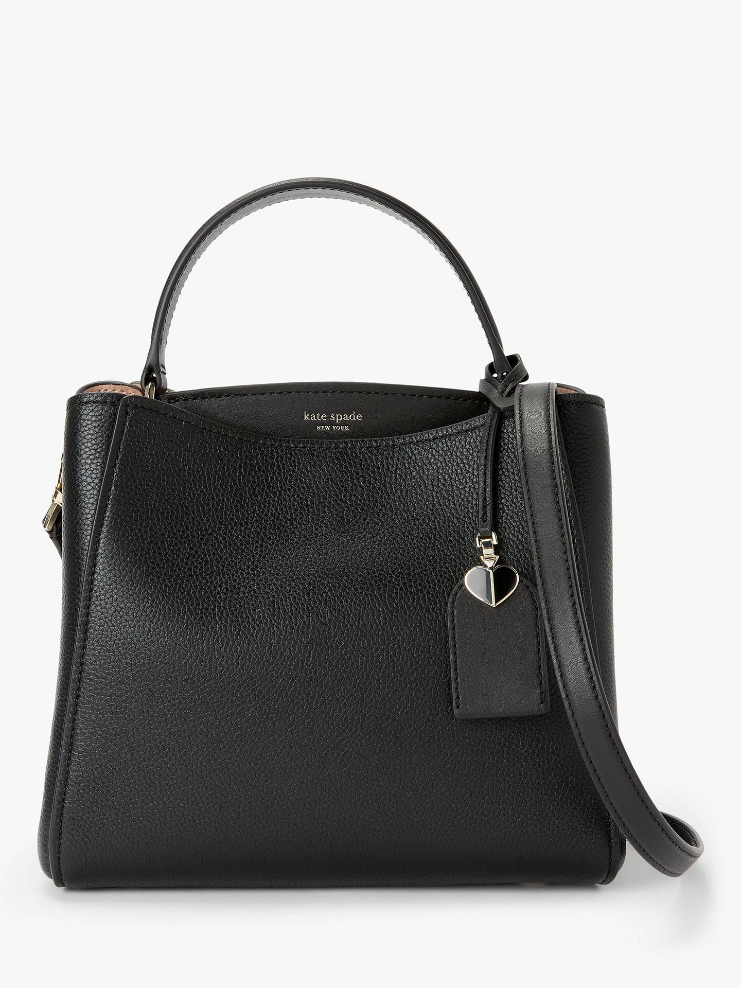 1b276b98 kate spade new york Fleur Leather Small Satchel Bag, Black