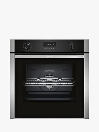 Neff B5ACH7AN0B Slide and Hide Self-Cleaning Built-In Single Oven, Stainless Steel