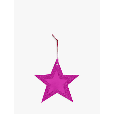 Product photo of John lewis partners party pink star gift tags pack of 10