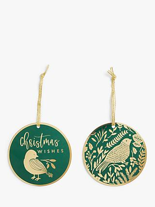 John Lewis & Partners Garden Retreat Birds Gift Tags, Pack of 6