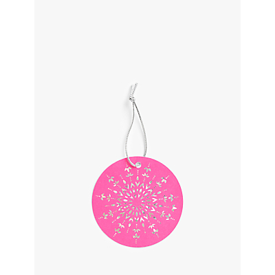 Product photo of John lewis partners party neon snowflake gift tags pack of 6