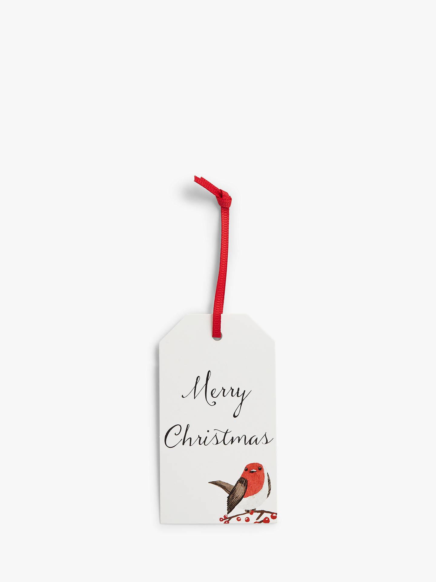 Merry Christmas Gift Tags.John Lewis Partners Traditions Merry Christmas Robin Gift Tags Pack Of 12