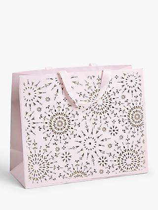 John Lewis & Partners Sanctuary Snowflake Gift Bag, Medium