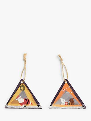 John Lewis & Partners Campfire Santa Gift Tags, Pack of 6
