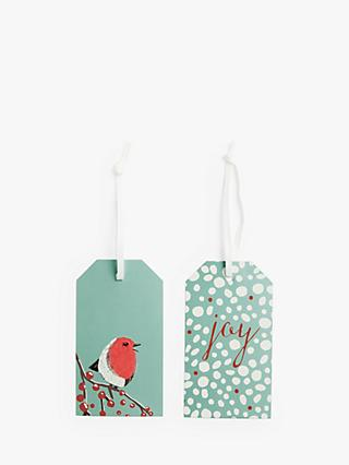 John Lewis & Partners Snowscape Robin Gift Tags, Pack of 6