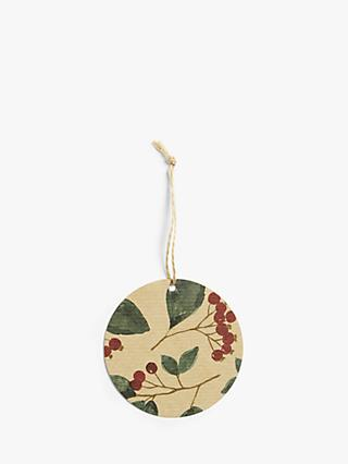 John Lewis & Partners Campfire Cranberry Gift Tags, Pack of 12