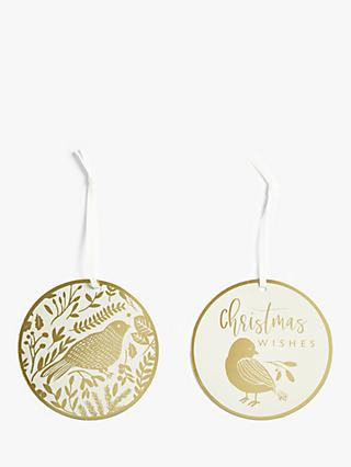 John Lewis & Partners Sanctuary Bird Gift Tags, Pack of 6