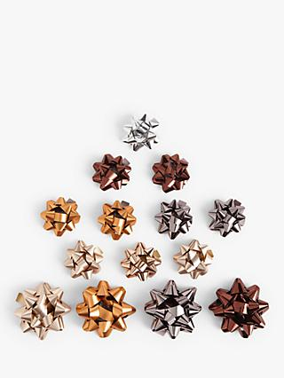 John Lewis & Partners Campfire Gift Bows, Pack of 15
