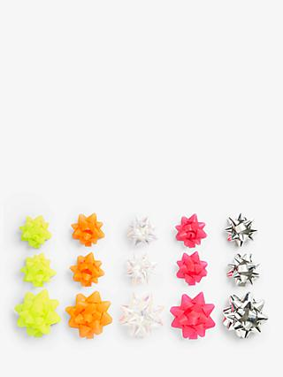 John Lewis & Partners Party Neon / Holographic Gift Bows, Pack of 15