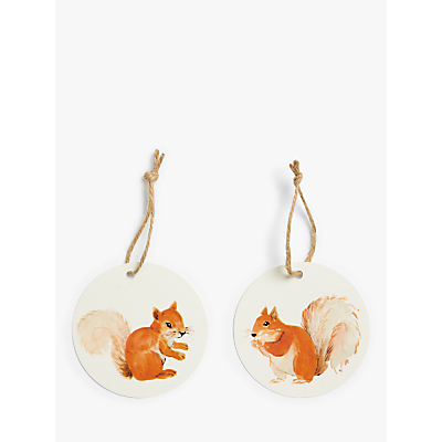 Product photo of John lewis partners campfire squirrel gift tags pack of 6