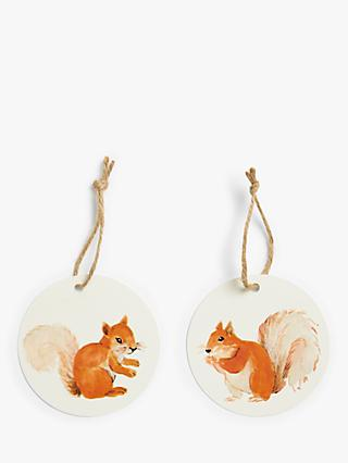 John Lewis & Partners Campfire Squirrel Gift Tags, Pack of 6