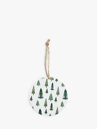 John Lewis & Partners Snowscape Mini Tree Gift Tags, Pack of 12