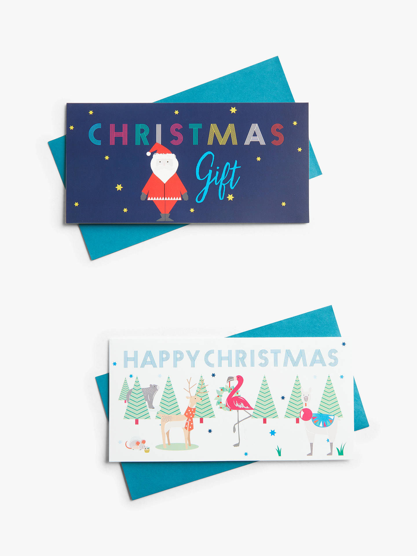 John Lewis Amp Partners Abc Santa Money Wallet Pack Of 2 At