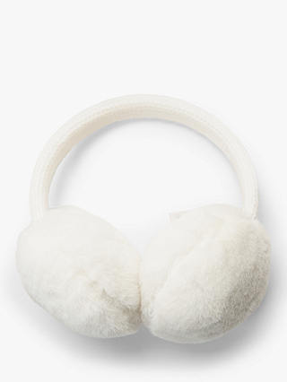 Buy John Lewis & Partners Children's Teddy Faux Fur Ear Muffs, Natural Online at johnlewis.com