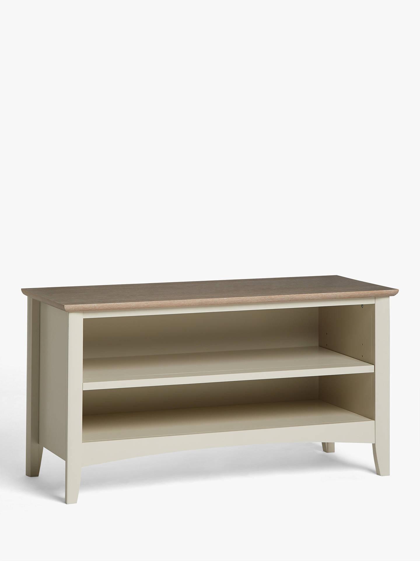 Miraculous John Lewis Partners Alba Shoe Storage Bench Washed Grey Inzonedesignstudio Interior Chair Design Inzonedesignstudiocom