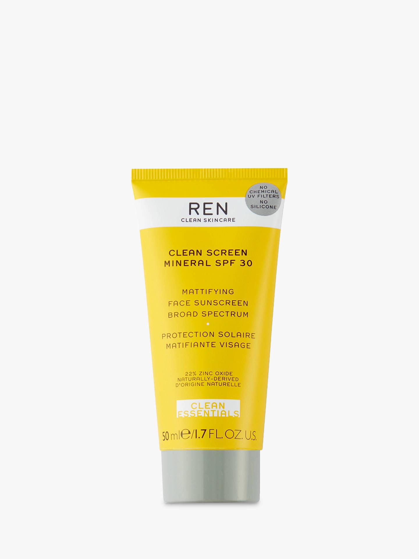 Buy REN Clean Screen Mineral Sun Cream SPF 30, 50ml Online at johnlewis.com