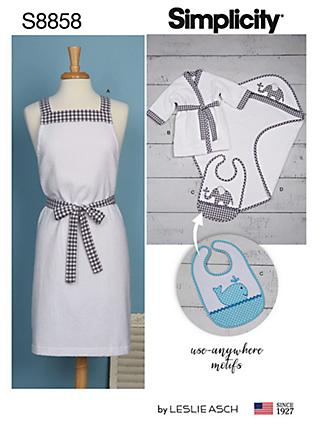 8863ada505a6 Simplicity Bathtime Accessories Sewing Pattern, 8858, One Size