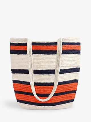 hush Seville Woven Stripe Shoulder Bag, Natural/Multi