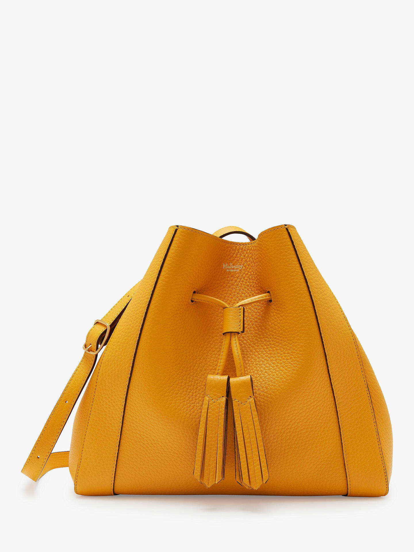 0e0ce77c25 Buy Mulberry Millie Heavy Grain Leather Small Tote Bag, Deep Amber Online  at johnlewis.