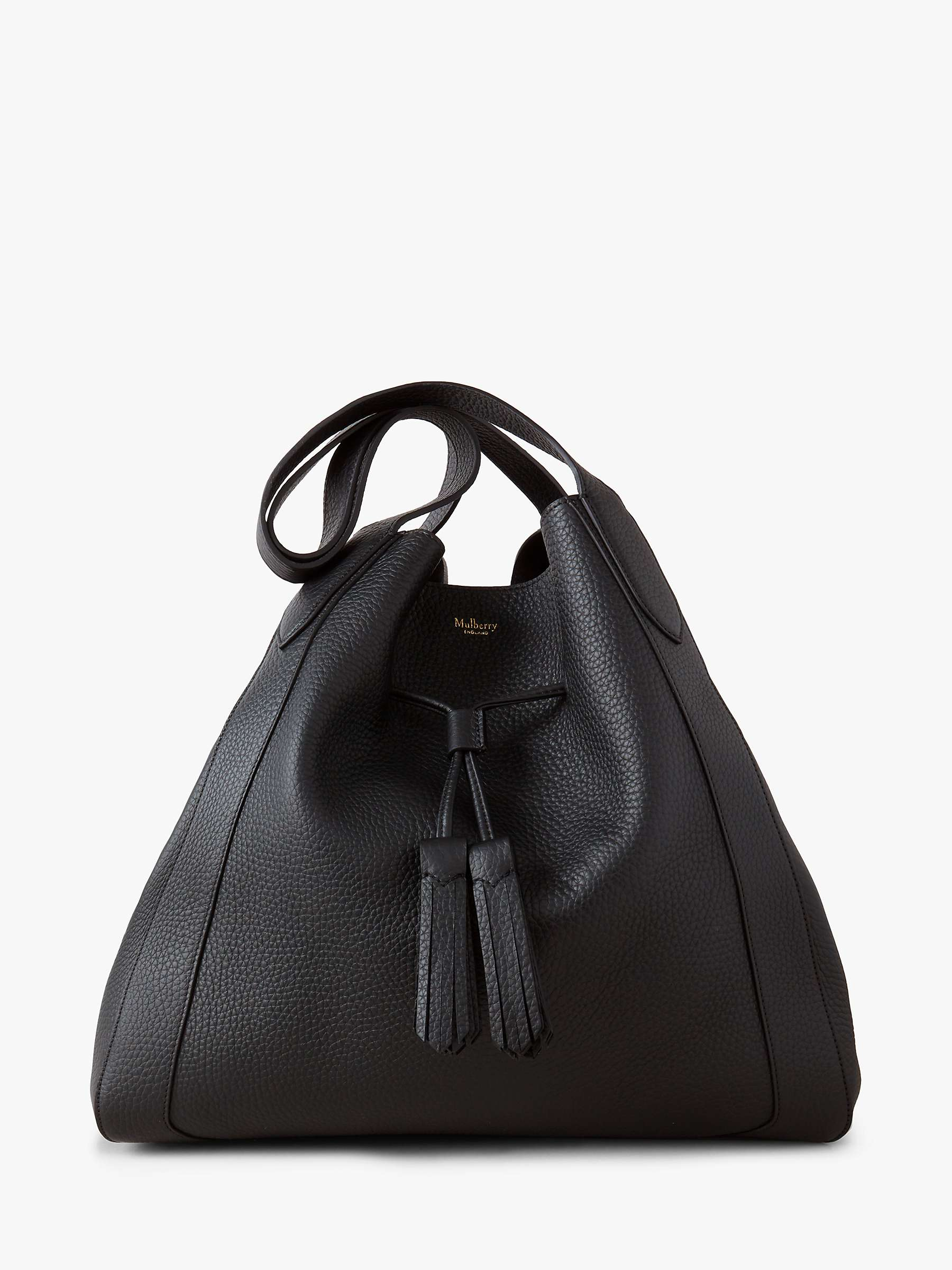 mulberry-millie-heavy-grain-leather-tote-bag,-black by john-lewis