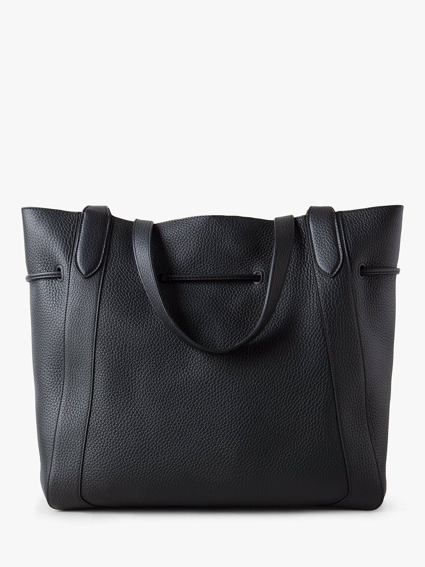 b47f089a44a6 Mulberry Millie Heavy Grain Leather Tote Bag, Black
