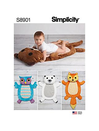 1e496165b Simplicity Home Padded Animal Floor Mat Sewing Pattern, 8901, One Size