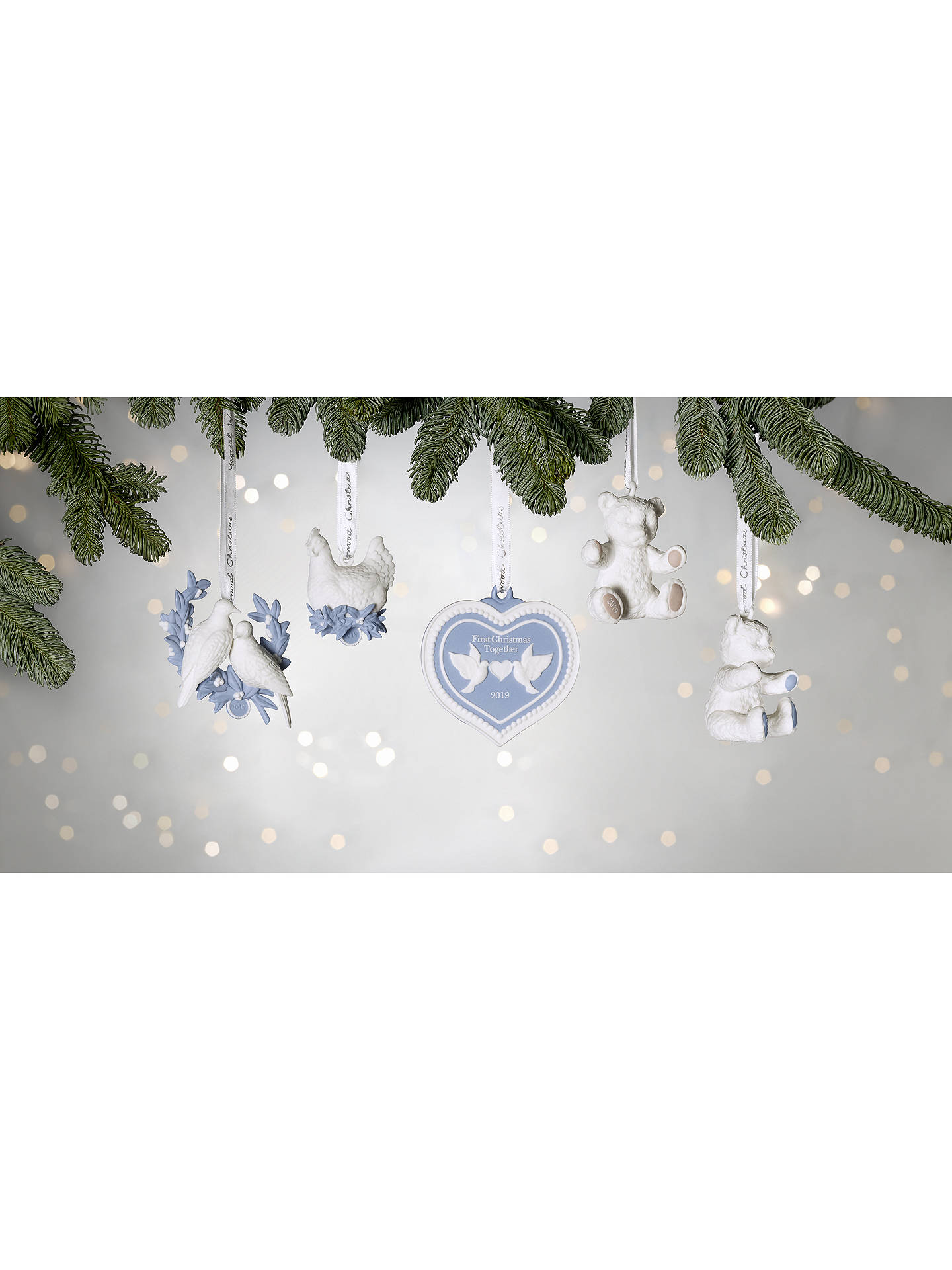 Wedgwood Christmas Ornaments 2019.Wedgwood First Christmas Together 2019 Tree Decoration