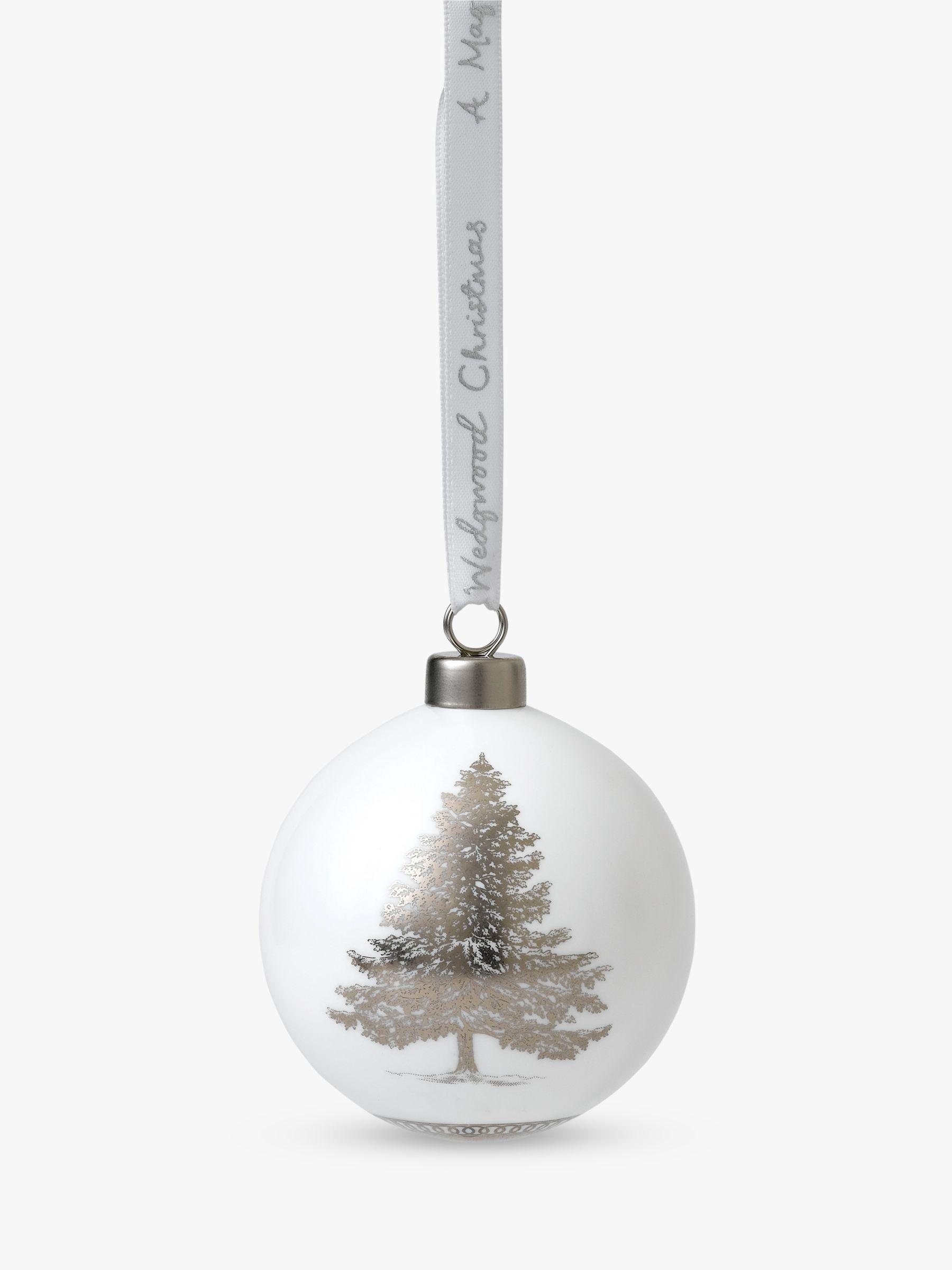 Wedgwood Winter White Christmas Tree Bauble At John Lewis Partners