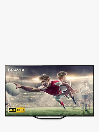"Sony Bravia KD55AG8 (2019) OLED HDR 4K Ultra HD Smart Android TV, 55"" with Freeview HD, Youview, & Acoustic Surface Audio, Black"