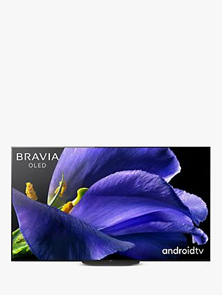 "Sony Bravia KD65AG9 (2019) OLED HDR 4K Ultra HD Smart Android TV, 65"" with Freeview HD, Youview, & Acoustic Surface Audio+, Black"