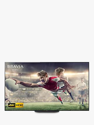 "Sony Bravia KD55AG9 (2019) OLED HDR 4K Ultra HD Smart Android TV, 55"" with Freeview HD, Youview, & Acoustic Surface Audio+, Black"