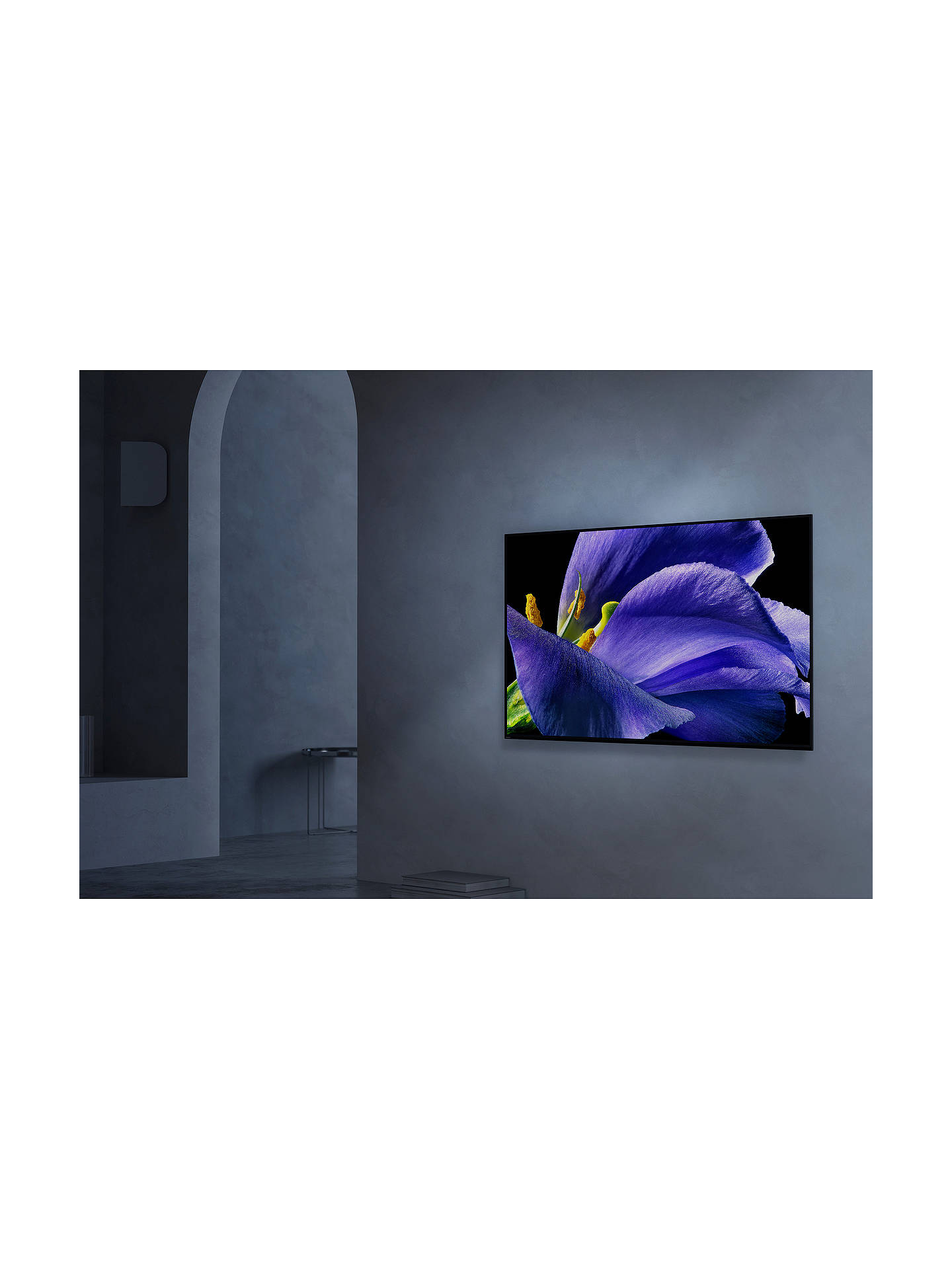 "Buy Sony Bravia KD77AG9 (2019) OLED HDR 4K Ultra HD Smart Android TV, 77"" with Freeview HD, Youview, & Acoustic Surface Audio+, Black Online at johnlewis.com"