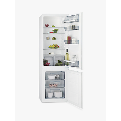 AEG SCB6181XLS Integrated Fridge Freezer, A+ Energy Rating, 54cm Wide, White