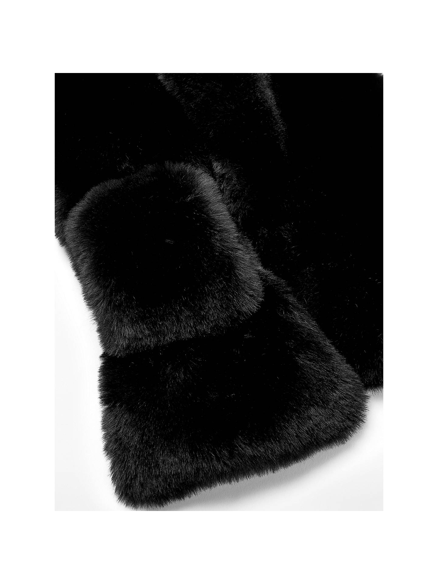 Buy John Lewis & Partners Faux Fur Tippet Scarf, Black Online at johnlewis.com