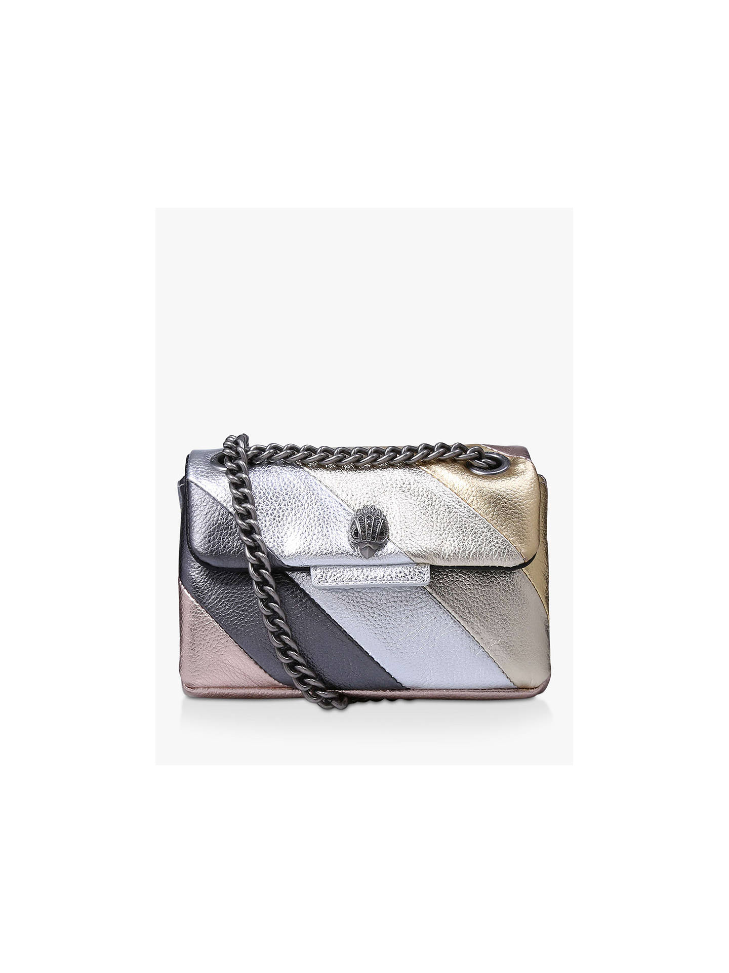 outlet store detailed look new lower prices Kurt Geiger London Mini Kensington Leather Cross Body Bag at John ...