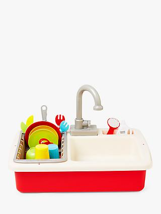 John Lewis & Partners Wash-Up Kitchen Sink