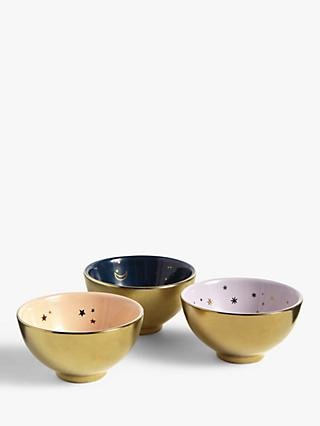 John Lewis & Partners Mini Abstract Star Bowls, Set of 3
