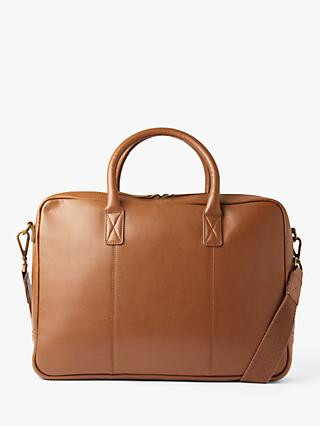 John Lewis & Partners Turin Leather Briefcase