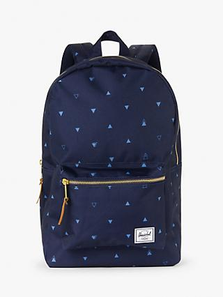 Herschel Supply Co. Settlement Geometric Print Backpack, Peacoat