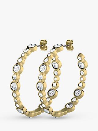 37ba7ce3882d DYRBERG KERN Nalani Swarovski Crystal Hoop Earrings